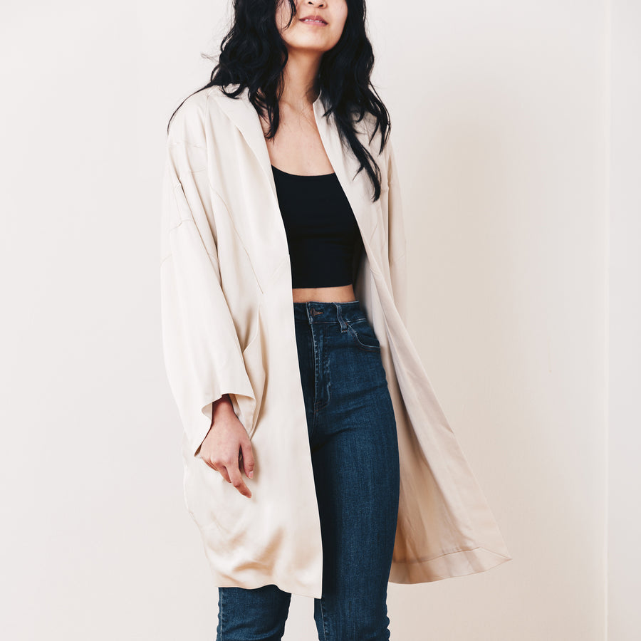Yuki Embroidered Jacket, Oyster
