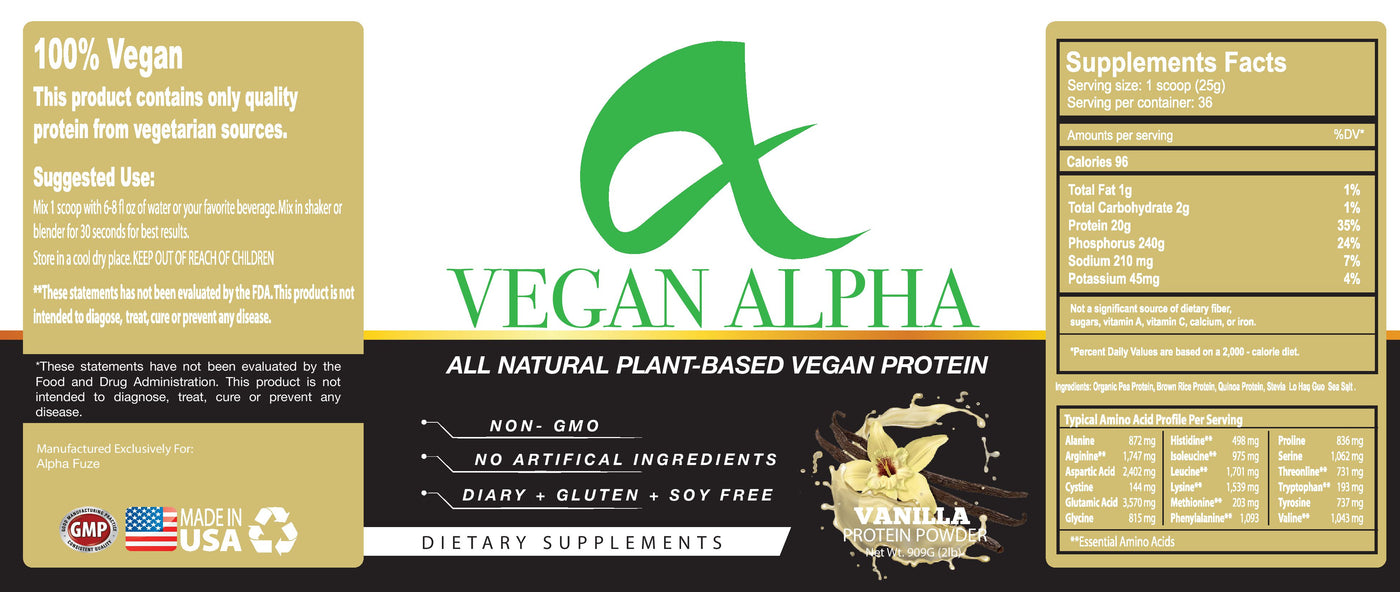 Vegan - Alpha Fuze Nutrition