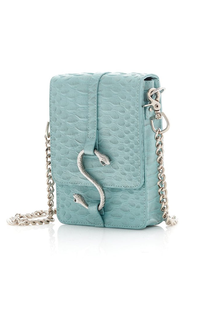 Stolen Girlfriends Club Hiss Satchel - Aqua Snake