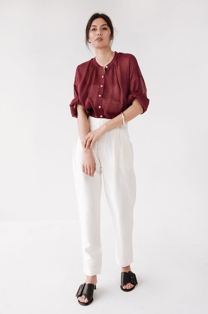 Marle Hunter Shirt - Bordeaux