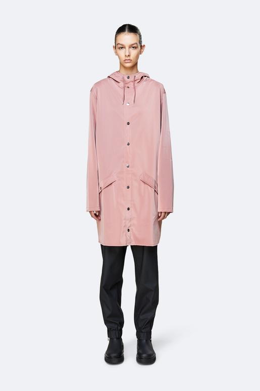 Rains 1202 Long Jacket - Blush