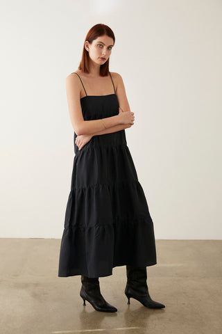 Marle Ophelia Dress - Black Silk