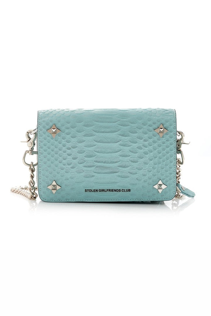 Stolen Girlfriends Club Ninja Star Box Bag - Aqua Snake