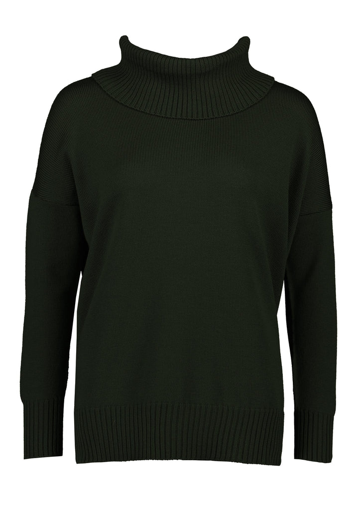 Standard Issue Funnel Neck Jumper - Army