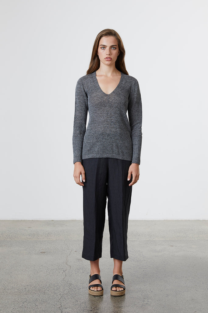 Standard Issue Linen V Jumper