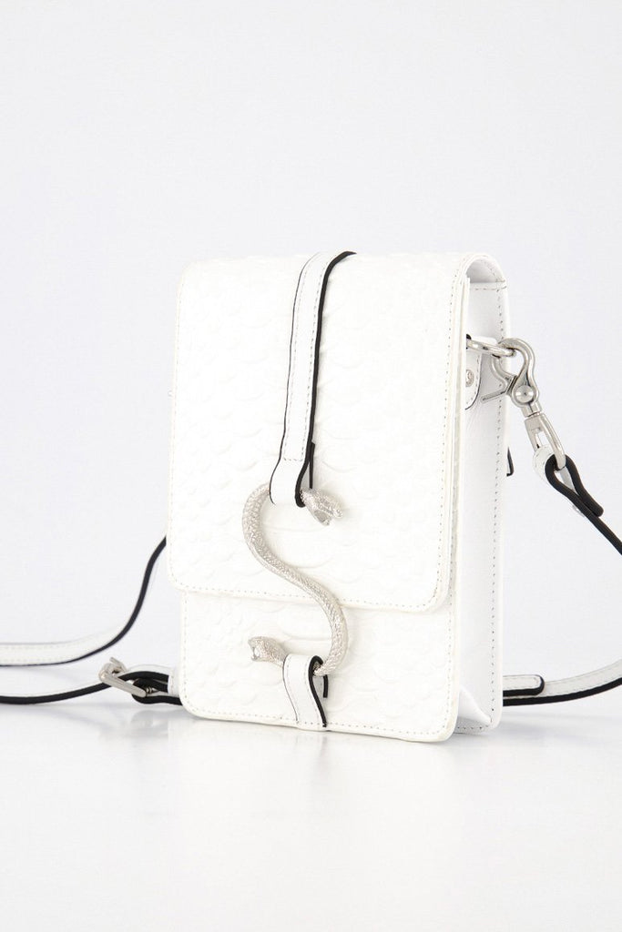 Stolen Girlfriends Club Hiss Satchel - White Snake