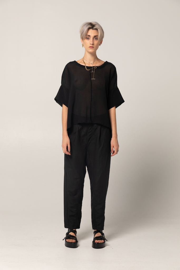 Company of Strangers Train Trackies - Black Linen