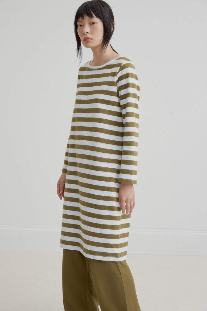 Kowtow Breton Dress - Khaki Stripe
