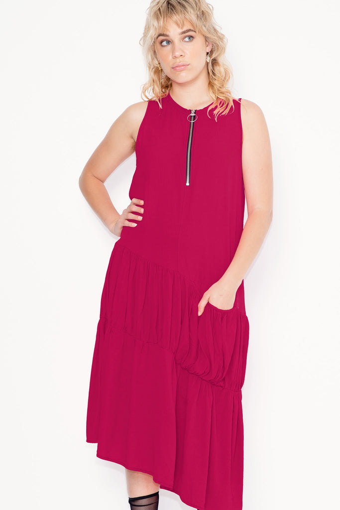 Company of Strangers Crush Dress - Fuchsia