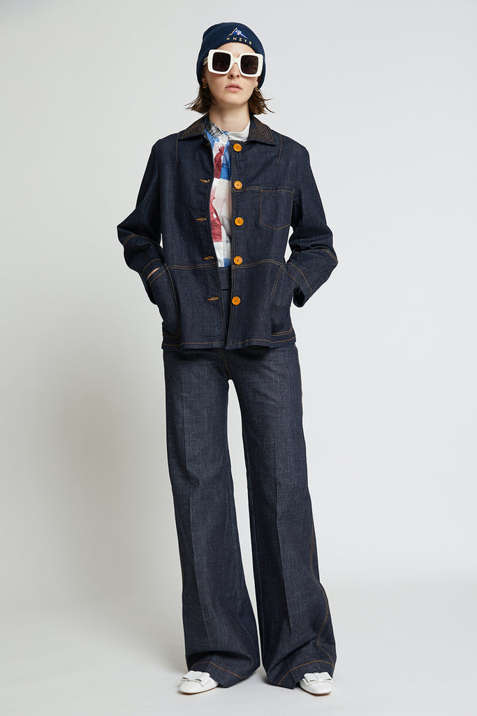 Karen Walker X Outland Denim Goldie Jacket - Indigo