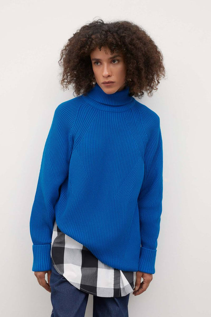 Kowtow Henri Roll Neck Jumper - Buoy Blue