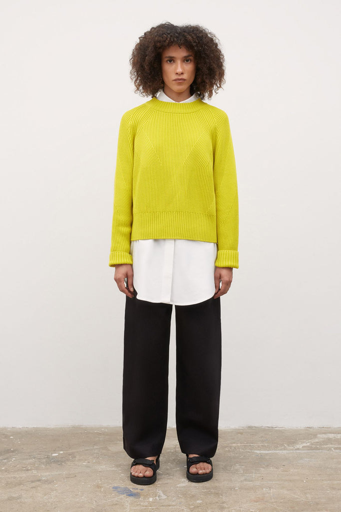 Kowtow Henri Crew- Acid Yellow