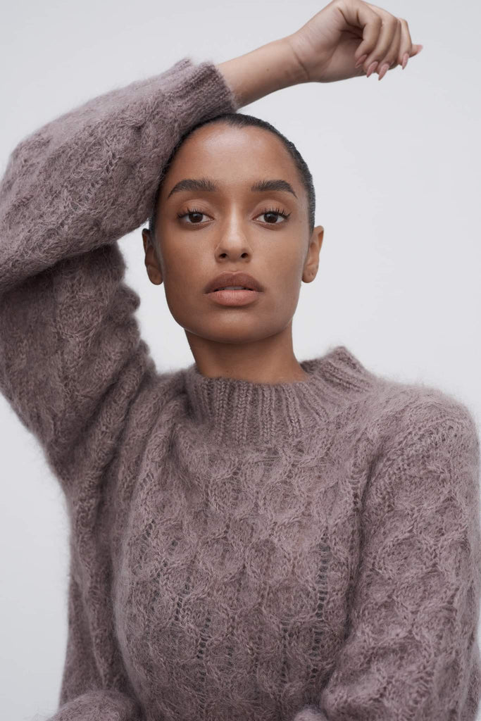 Marle Mimi Honeycomb Jumper -Dusty Lavendar