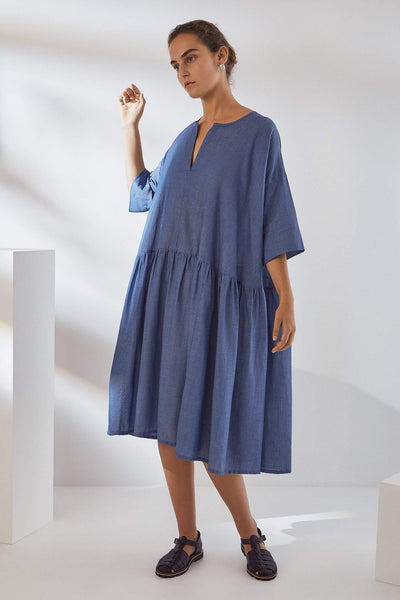 Kowtow Sketchbook Dress Light Chambray