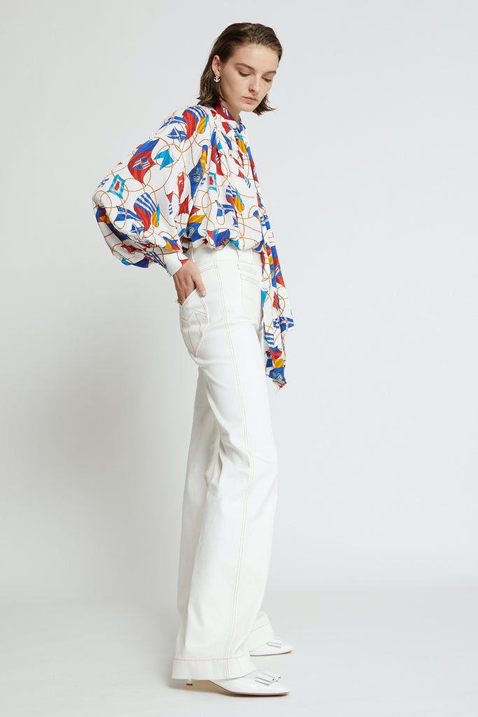 Karen Walker Starboard Flares - Off White