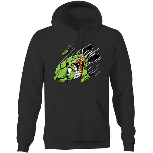 Get Hopped - Hop Bomb -AS Colour Stencil - Pocket Hoodie