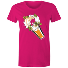 Load image into Gallery viewer, Storm in a Beer Glass - AS Colour - Women's Maple Tee