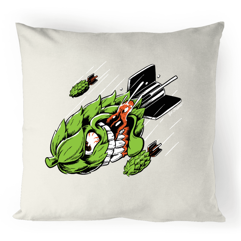 Hop Bomb - 100% Linen Cushion Cover