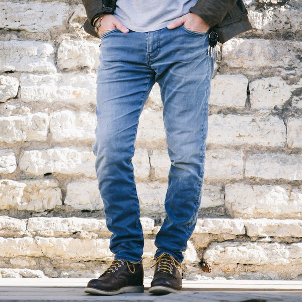 Tailored men's jeans from front