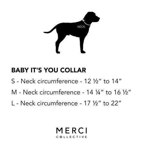 size chart merci collective collar baby its you