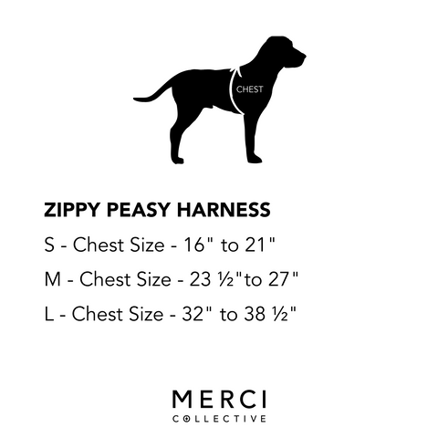 size chart merci collective harness