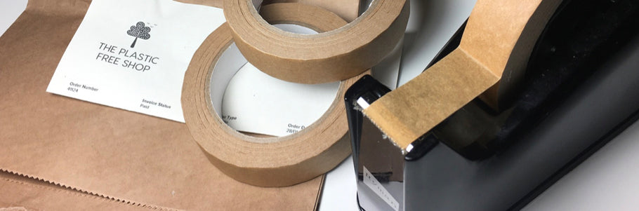 Eco friendly sticky tape and packaging