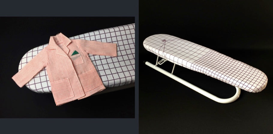 Iron doll clothes with a mini ironing board