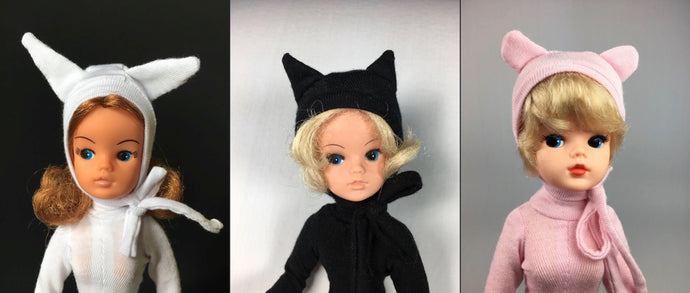 Catsuits and animal character hats for Sindy