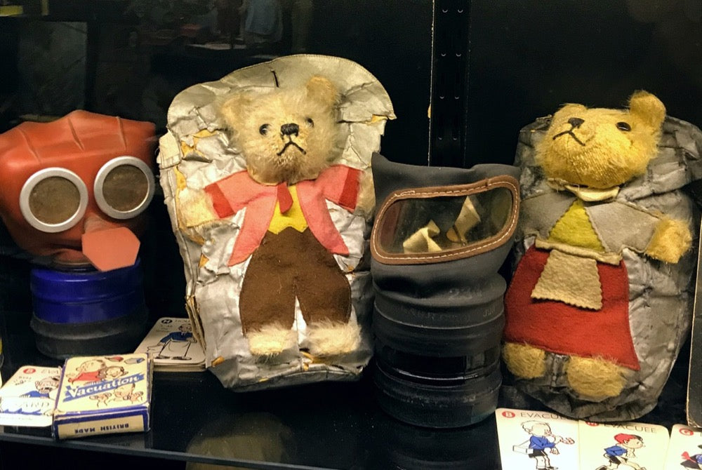 Gas mask bag teddy bears