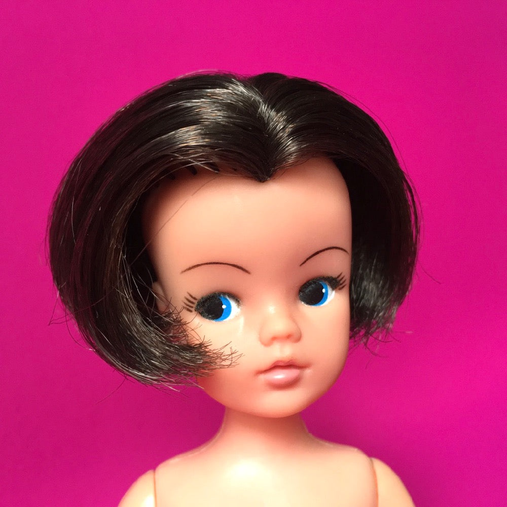 Brunette Sindy with bob hair