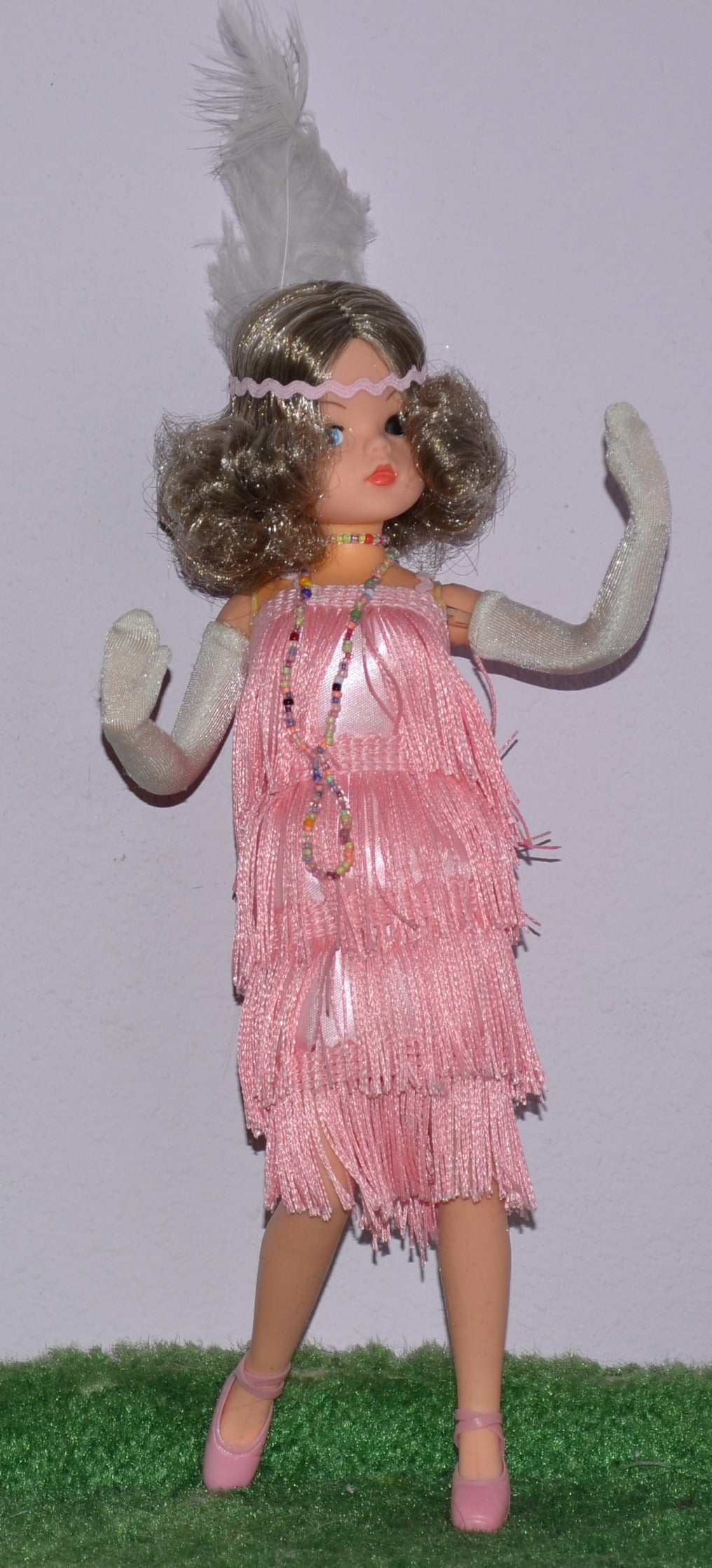 Bubbles a Sindy doll in flapper outfit by Lesley Carter