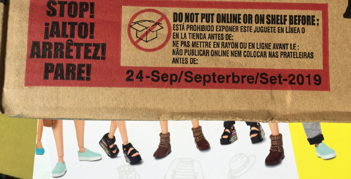 Out packaging - do not put on shelf before 24 September