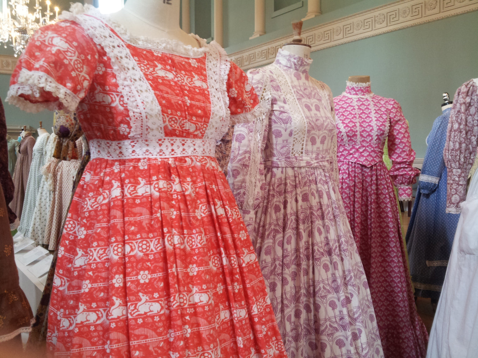 Laura Ashley dresses in museum