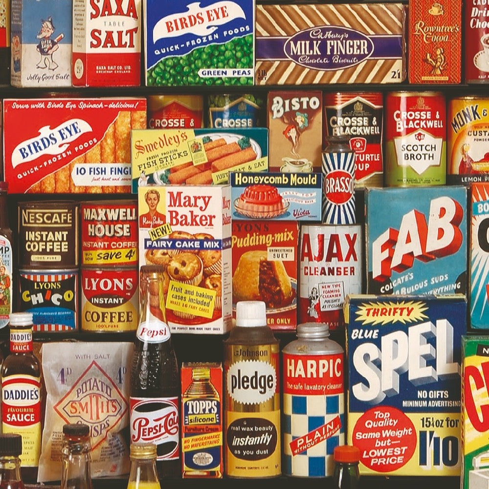 1950s grocery packaging