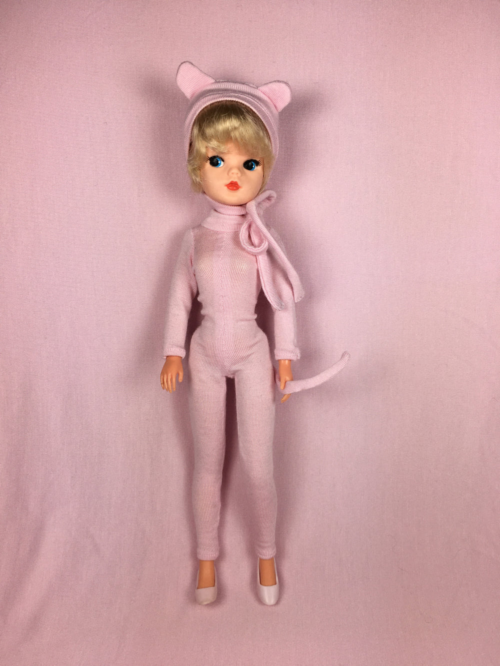 Sindy in pink mouse outfit