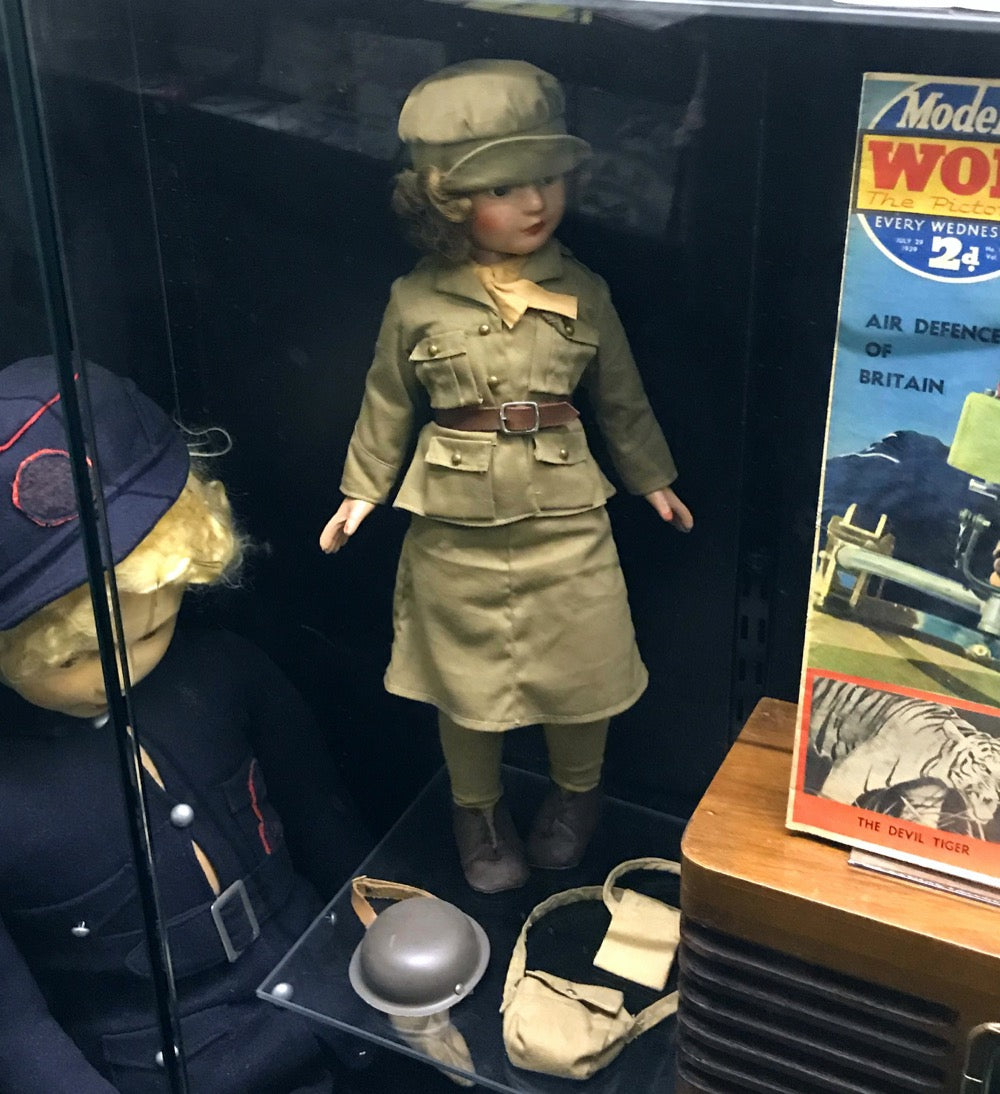 World War II doll in khaki service uniform