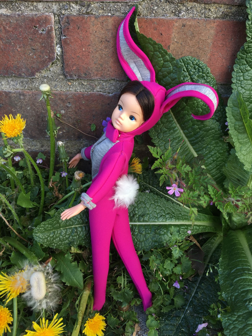 Brunette Sindy in bunny costume