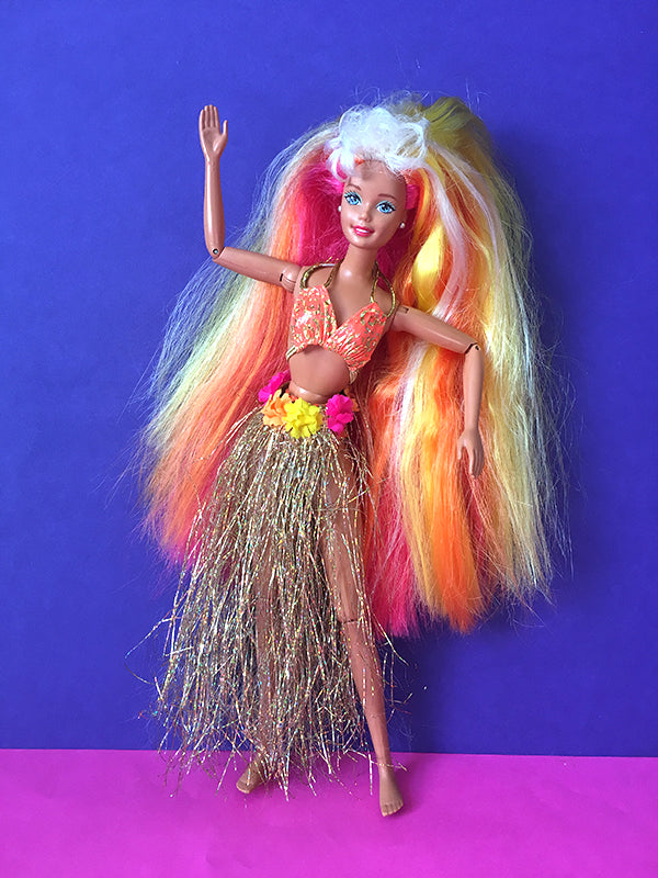 Hula Hair Barbie with large feet