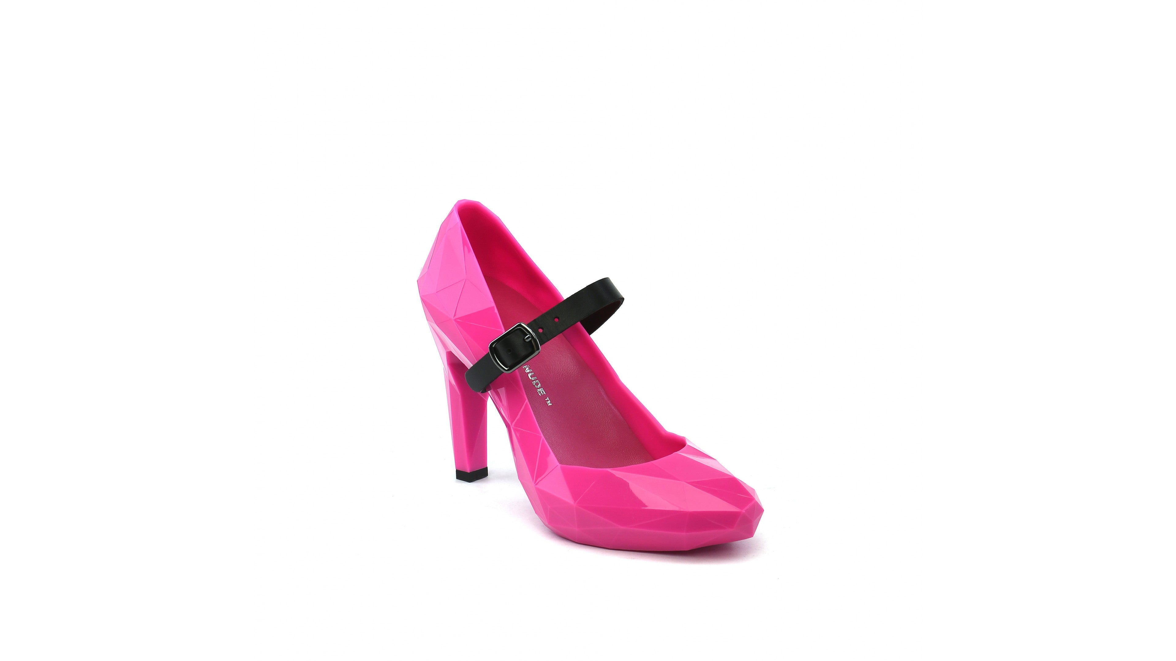 United Nude pink Lo Res Pump plastic high heel shoe
