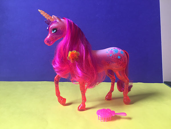 Barbie and the Secret Door transparent pink unicorn