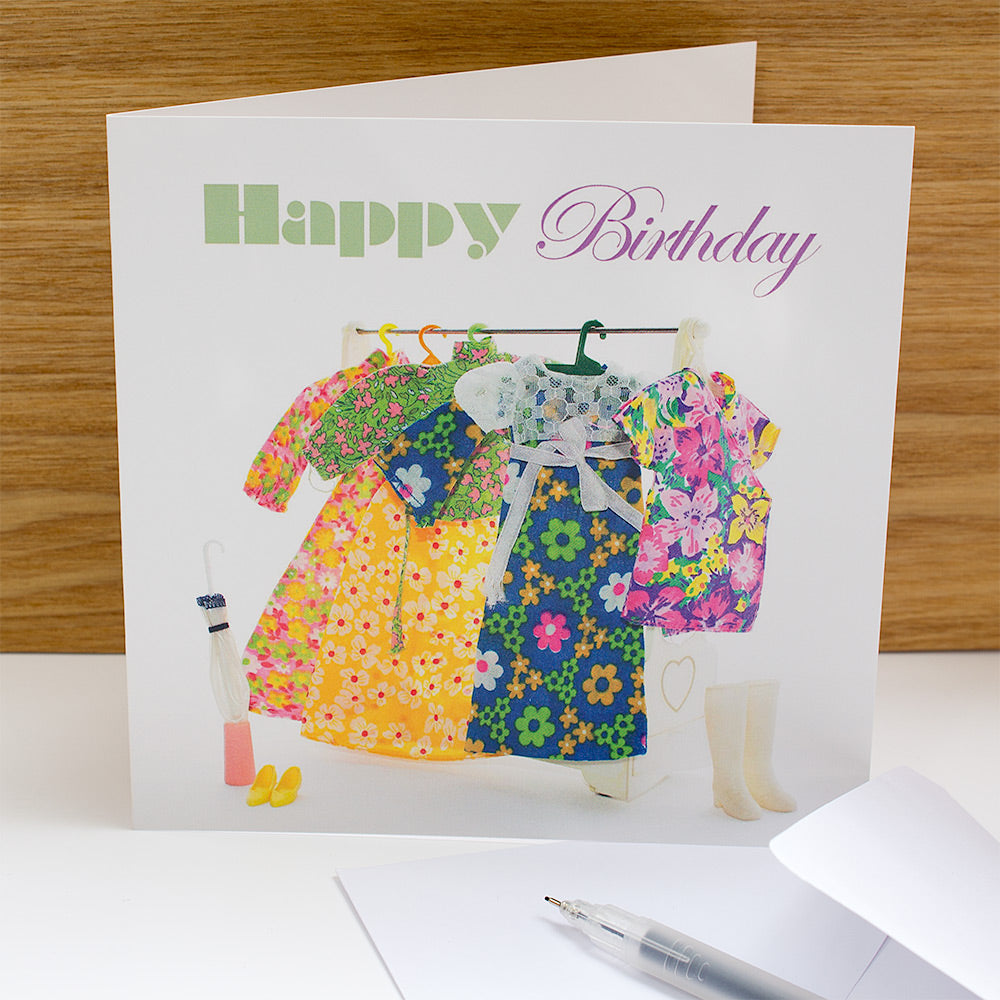 Happy Birthday Spring doll clothes greeting card