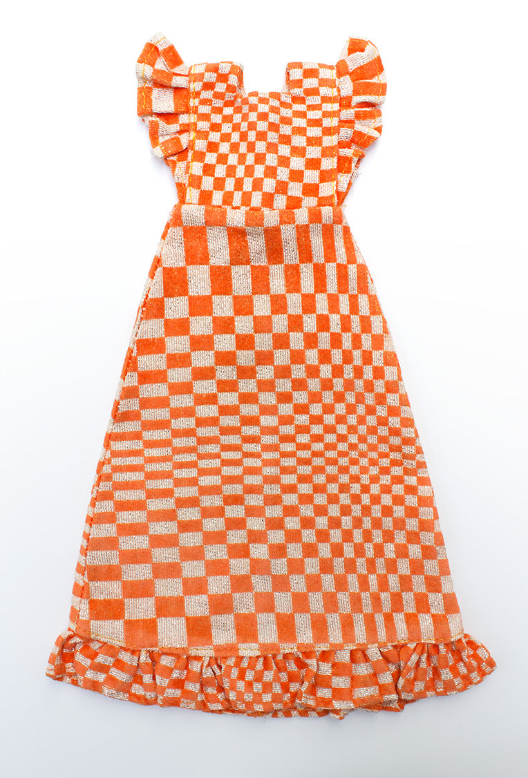 Sindy 1970s Check Mate op art dress