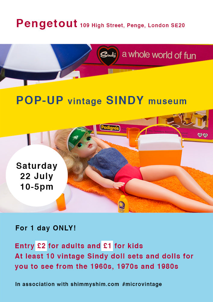 Pop Up vintage Sindy museum poster 2017