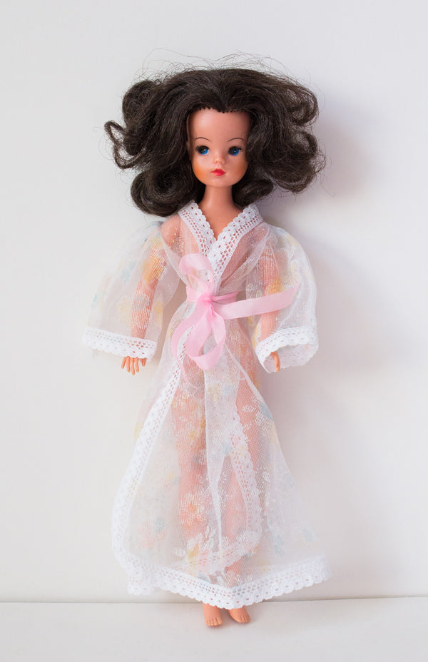 Pretty Pose doll wearing peignoir