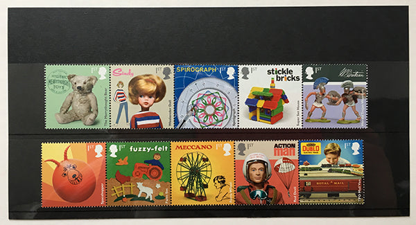 Royal Mail Classic Toys stamps.