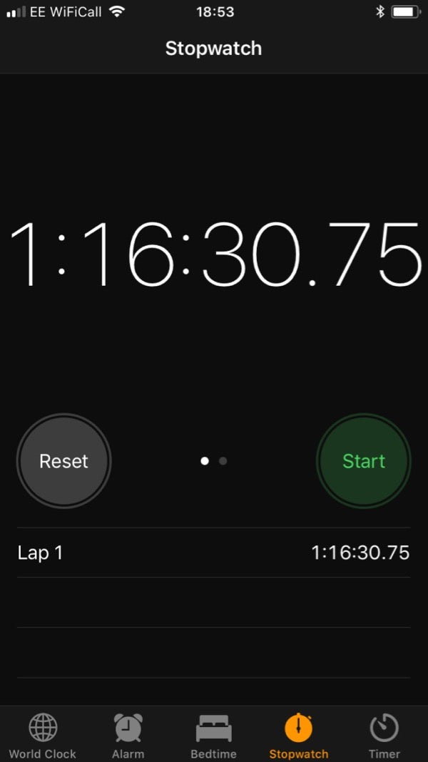 Stopwatch screenshot