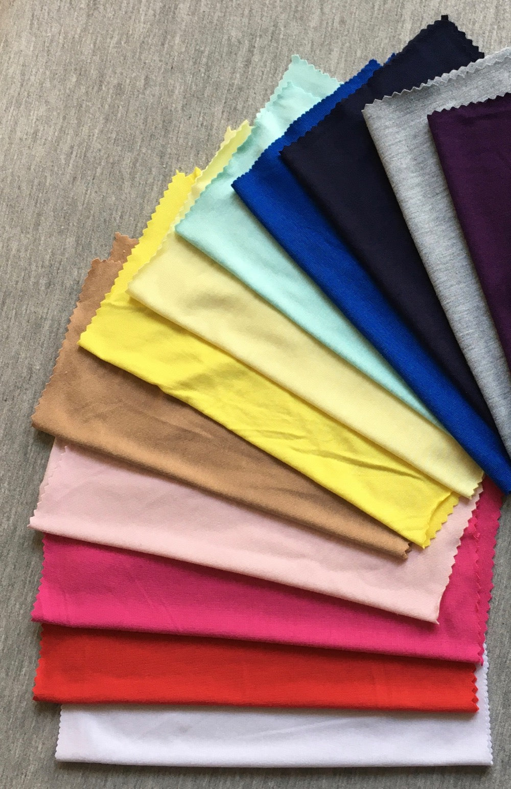 Fabric for tights in a variety of colours.