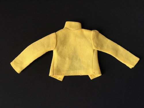 1970s yellow nylon top turtle neck long sleeve fit 12