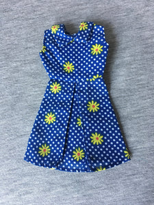 Palitoy Action Girl Belgravia Set Elizabeth sleeveless blue dress with yellow daisy
