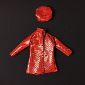 "Palitoy Action Girl Snake Charmer faux snakeskin jacket hat set  fit 12"" fashion doll"